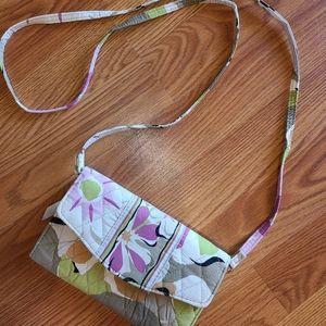 Vera Bradley quilted Tri-Fold Wallet/Crossbody